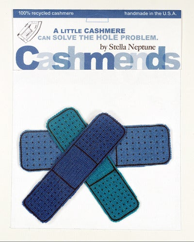 Image of Iron-on Cashmere Band-Aids - Triple Blue
