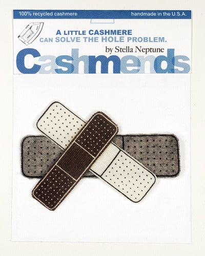 Image of Iron-on Cashmere Band-Aids - Brown/Grey/Cream
