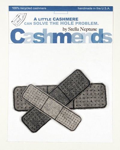 Image of Iron-on Cashmere Band-Aids - Triple Grey
