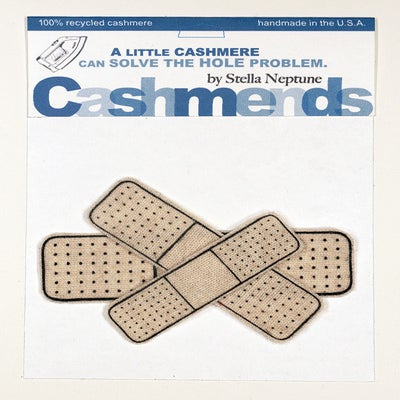 Image of Iron-on Cashmere Band-Aids - Oatmeal