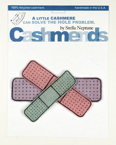 Image of Iron-on Cashmere Band-Aids - Triple Pastel