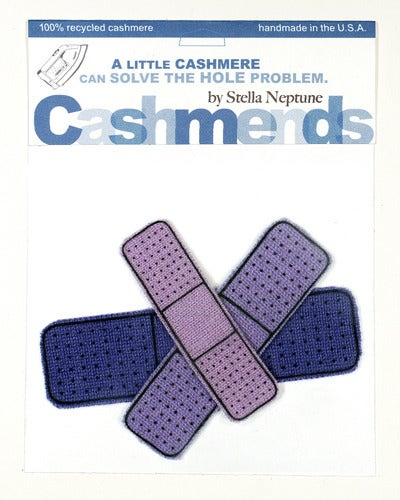 Image of Iron-on Cashmere Band-Aids - Triple Purple