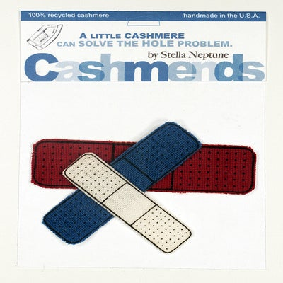 Image of Iron-on Cashmere Band-Aid - Red/White/Blue