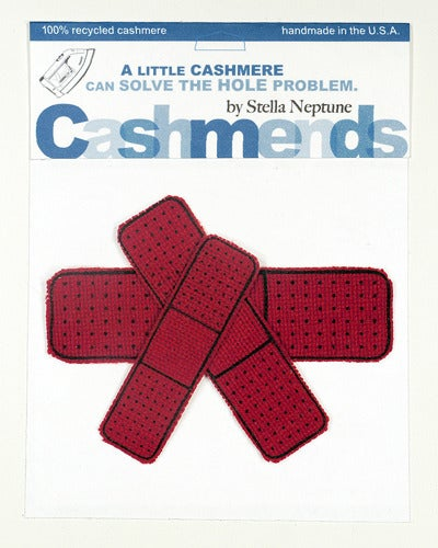 Image of Iron-on Cashmere Band-Aids - Classic Red