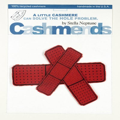 Image of Iron-on Cashmere Band-Aids - Tomato Red