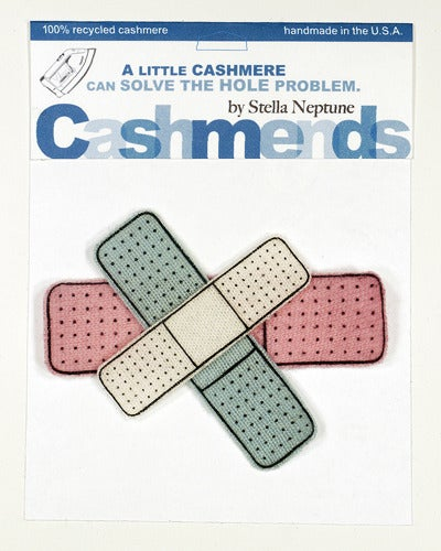 Image of Iron-on Cashmere Band-Aids - Cream/Baby Pink/ Baby Blue
