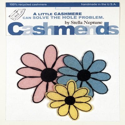 Image of Iron-on Cashmere Flowers - Baby Pink/Baby Blue/Baby Yellow