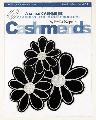 Image of Iron-on Cashmere Flowers - Black
