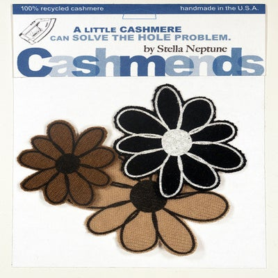 Image of Iron-on Cashmere Flower - Black/Brown/Beige