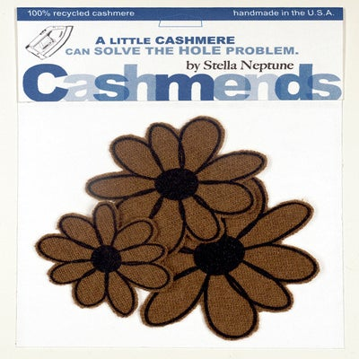 Image of Iron-on Cashmere Flowers - Brown