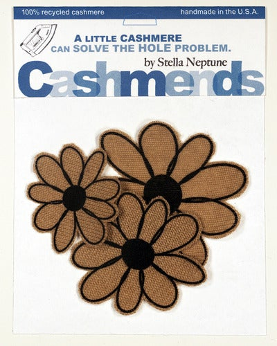 Image of Iron-on Cashmere Flowers - Camel