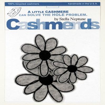 Image of Iron-on Cashmere Flowers - Light Grey