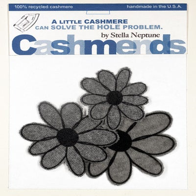 Image of Iron-on Cashmere Flower - Medium Grey