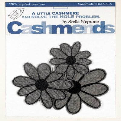 Image of Iron-on Cashmere Flowers - Medium Grey