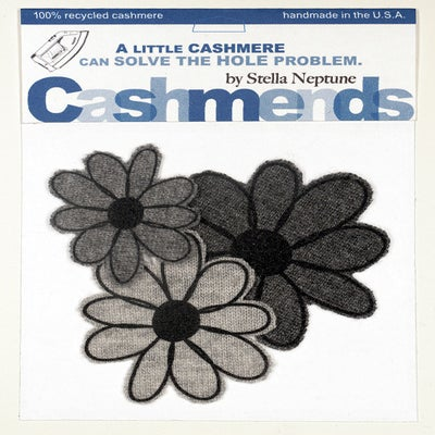 Image of Iron-on Cashmere Flower - Triple Grey