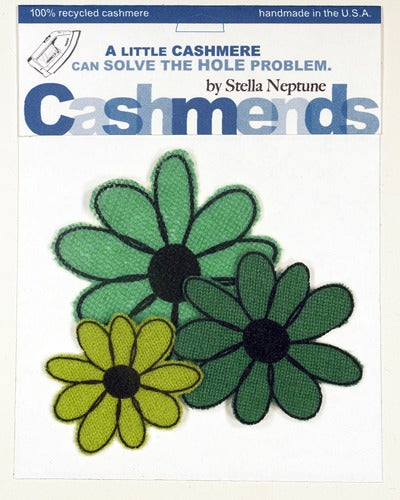 Image of Iron-on Cashmere Flowers - Triple Green