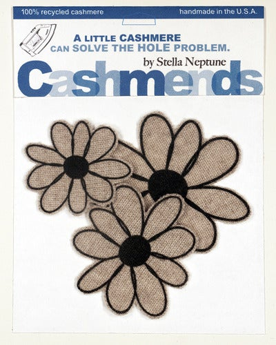 Image of Iron-on Cashmere Flowers - Oatmeal