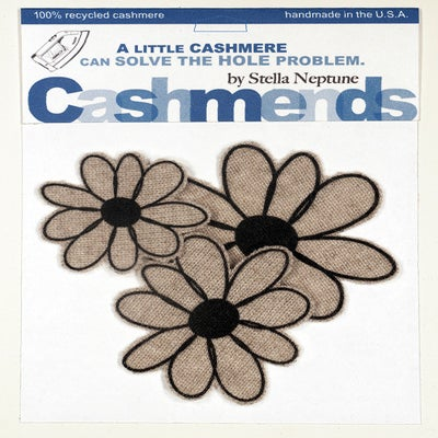 Image of Iron-on Cashmere Flower - Oatmeal