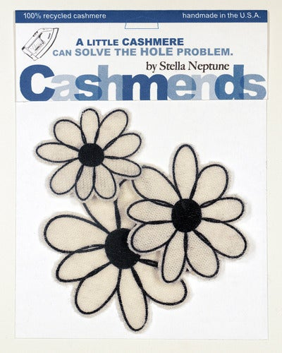 Image of Iron-on Cashmere Flowers - Cream