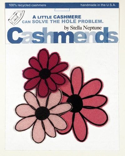 Image of Iron-on Cashmere Flowers - Triple Pink