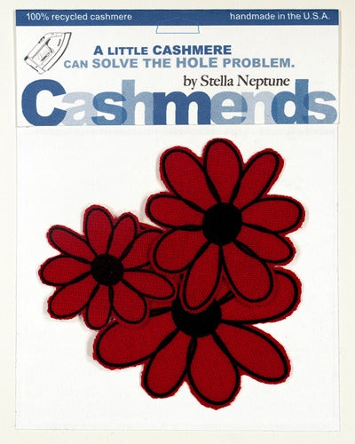 Image of Iron-on Cashmere Flowers - Brick Red