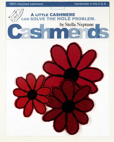 Image of Iron-on Cashmere Flowers - Triple Red