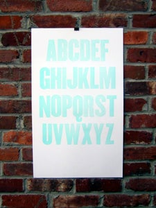 Image of Letter March print