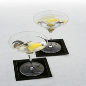 Image of SUZANNE CUMMINGS featuring MYdrap Cocktail Napkins(Black/Brown Chocolate)
