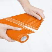Image of SUZANNE CUMMINGS featuring MYdrap Cocktail Napkins (Mustard Yellow/Orange)
