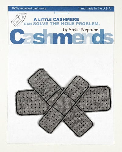 Image of Iron-on Cashmere Band-Aids - Medium Grey