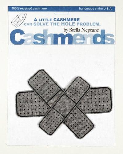 Image of Iron-on Cashmere Band-Aids - Medium Grey