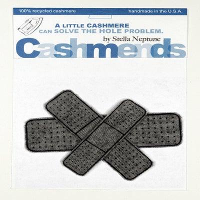 Image of Iron-on Cashmere Band-Aids - Dark Grey