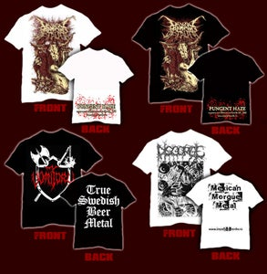 Image of T-SHIRT`s DIVINE MOMENTS OF TRUTH,VOMITORY, DISGORGE
