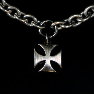Image of Small iron cross in silver