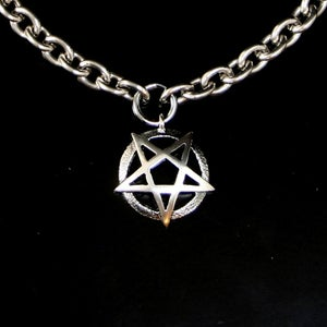 Image of Small pentagram in silver