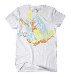 Image of White Watercolor Bird Tee