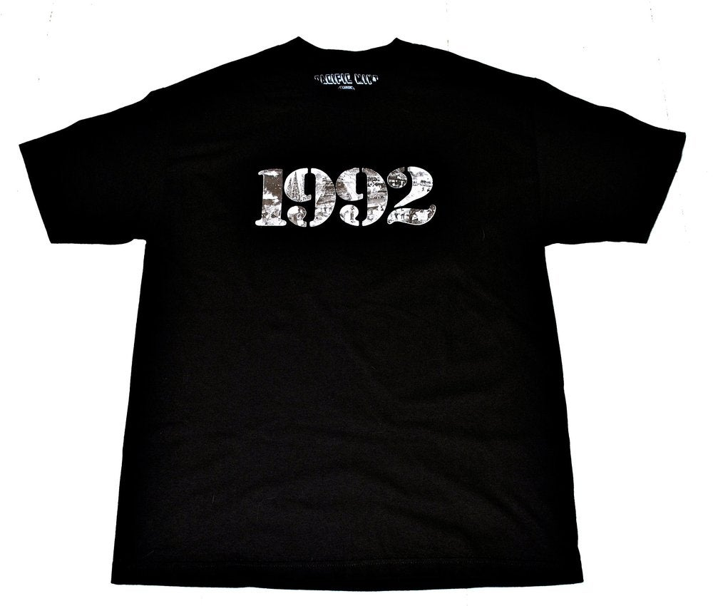 """Image of """"92 RIOT"""" Tee in Black"""
