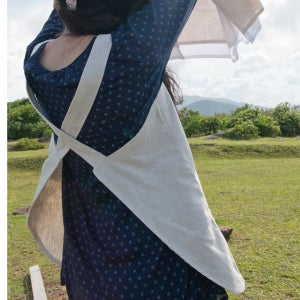 Image of Cotton-Linen Reversible Apron /棉麻兩面穿圍裙 (code: 008)