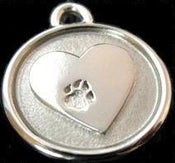 Image of Silver Paw Dog ID Tag on UncommonPaws.com