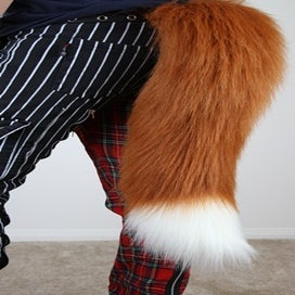 "Image of 24"" Fox Tail / Black or Rust"