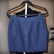 Image of Forever 21 Navy Scalloped Skirt