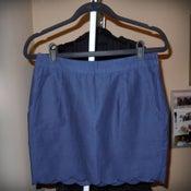 Image of Forever 21 Navy Scalloped Skirt