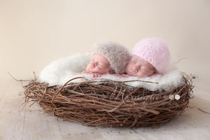 Image of Newborn Hat - Fuzzy bunny