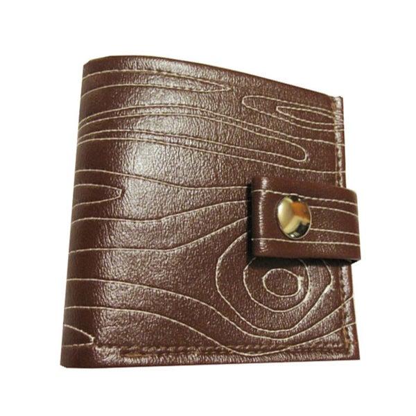 Image of Woodgrain ) Bifold Wallet with Snap (Plus Zipper!)