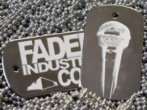 Image of Faded Industry Custom Diamond Engraved Dog Tags