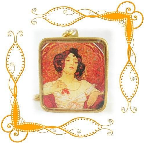 Image of Mucha Fine Lady Musical Locket