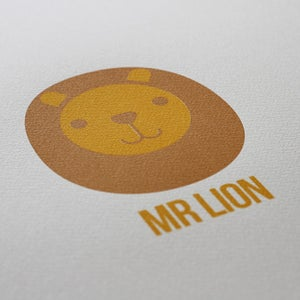 Image of 'Mr Lion' screenprint