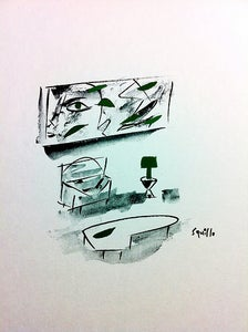 Image of Drawings of Paintings and their Matching Furniture #5