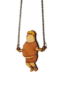 Image of Skipping Boy Necklace