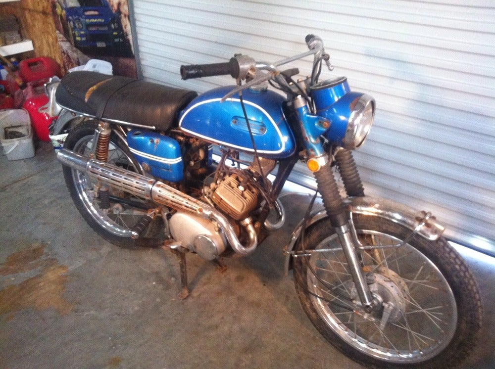 Myrtle beach motorcycle junk yard 1970 yamaha as2c 125 for Motor cycle junk yard